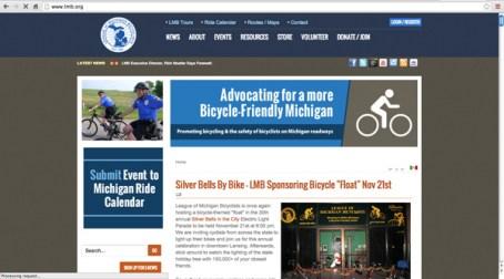 League of Michigan Bicyclists (LMB) website