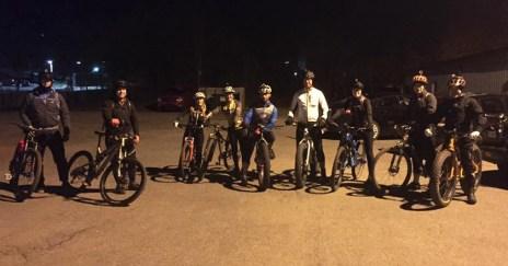 Hometown Bicycles Night Lights Shop Ride