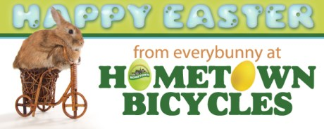 Happy Easter from everybunny at Hometown Bicycles