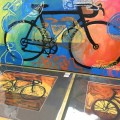 Peggy Kerwan bike art at Hometown Bicycles