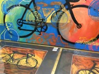 Peggy Kerwan artwork at Hometown Bicycles