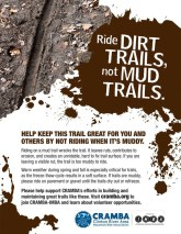 CRAMBA Ride Dirt Trails, Not Mud Trails flier