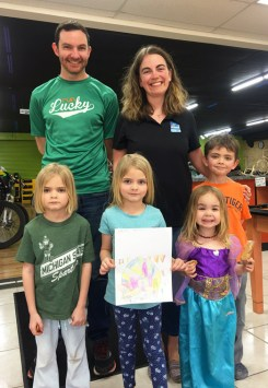 Junior Hometownie artist Abby Wheeler and her family came by to drop off her entry into the Jr. Hometownie T-Shirt Contest