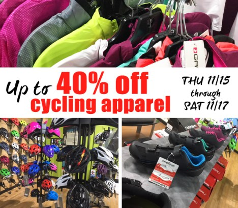 Hometown Bicycles Cycling apparel sale up to 40% off