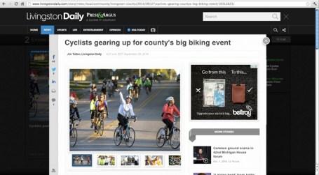 Tour de Livingston Training Ride in the new at Livingston Daily Press & Argus