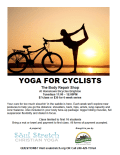 Yoga for Cyclists flier