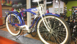 Tim Allen Limited Edition Home Improvement bicycle on display at Hometown Bicycles