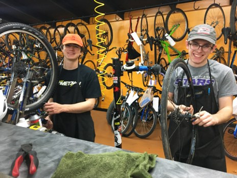 Hometown Bicycles Service Crew, Joe Shafer and Andrew Jackson