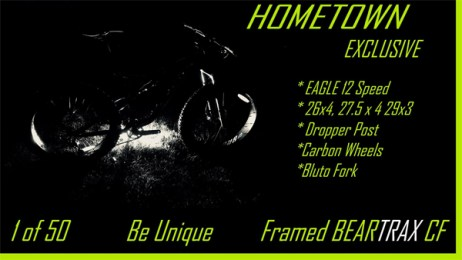 Hometown Bicycles exclusive BEARTRAX, full suspension fat bike