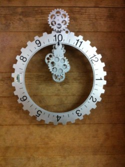 Gear clock at Hometown Bicycles