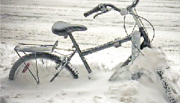 Michigan winter bicycle
