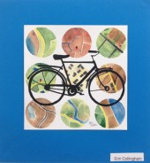 Student bicycle art by Pinckney High School student Erin Collingham at Hometown Bicycles