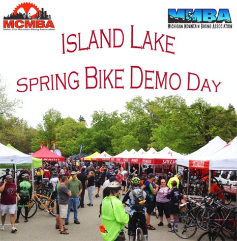 Island Lake Spring Bike Demo Day, an MCMBA / MMBA event