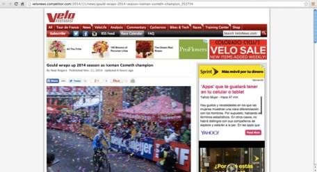Velo News - Gould wins Iceman Cometh Challenge 2014