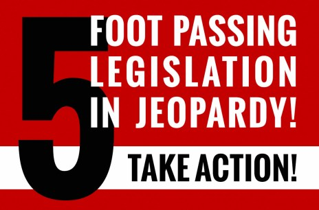 5 Foot Passing Legislation is in Jeopardy - take action!