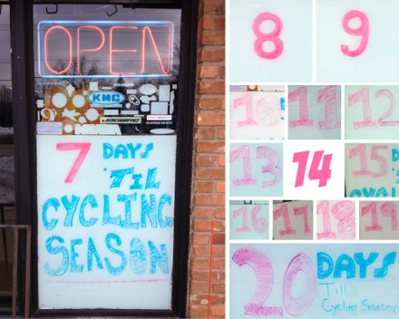 Cycling seaon countdown at Hometown Bicycles