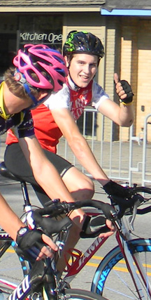 Hometown's CJ Brish rockets into 2nd place in the 2011 Milford Crit Juniors Division