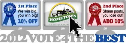 Vote 4 the Best - 20% off if Hometown wins!