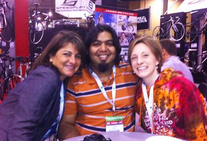 Carine Joannou, Pres & CEO of Jamis + Shaun + Dawn at Interbike