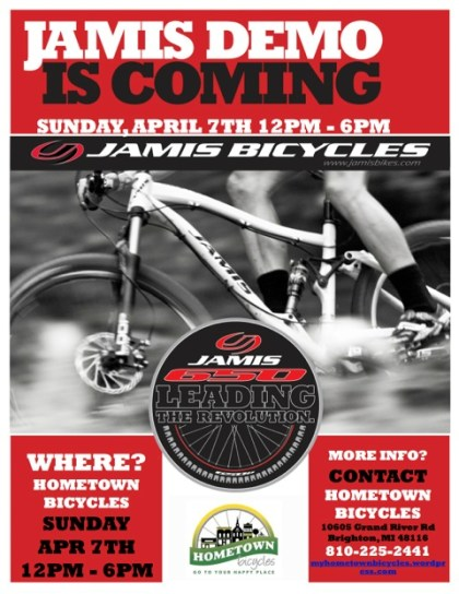 Hometown presents Jamis Demo on April 7th