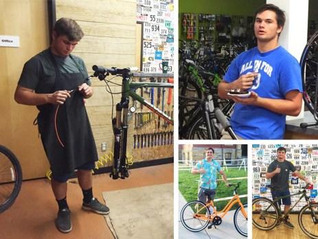 Hometown Bicycles service tech Rocco Mularoni