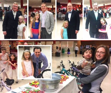 Hometown Bicycles sponsored the SELCRA Daddy-Daughter Dance at Brighton High School, and connected with lots of Hometownies with their beautiful princesses