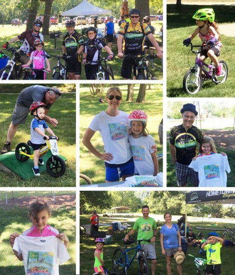 Hometown Bicycles crew and members of Team Hometown Bicycles volunteering at Poto Take a Kid Mountain Biking Day event at Brighton Rec