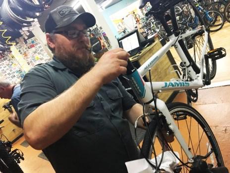 Hometown Bicycles Service Manager Matt Fitzhorn
