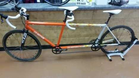 One of Midwest Bike and Tandem's Co-Motion tandems that will be available now at Hometown Bicycles!