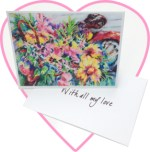Flower bicycle notecards by Peggy Brewer