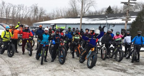 Hometown Bicycles Fat Bike Friendly Shop Ride leaving from our shop in Brighton, Michigan
