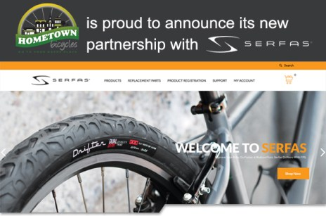 Hometown Bicycles is proud to announce its new partnership with Serfas