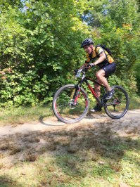 Team Hometown Bicycles John Wyatt at Addison Oaks Fall Classic XC bike race