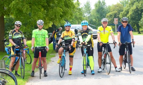 Team Hometown Bicycles at the 2018 Assenmacher 100