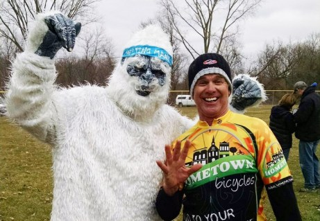 Joe Van Gordon with the Abominal Melting Mann at Melting Mann Dirt Road Bike Challenge in Vandalia, Michigan