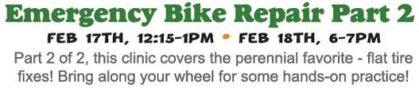 Emergency Bike Repair Clinic Part 2 - Flat Tire Fixes