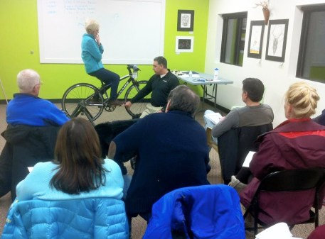 Bike fit clinic with Vinnie Baylerian of Pro-Motion Physical Therapy at Hometown Bicycles