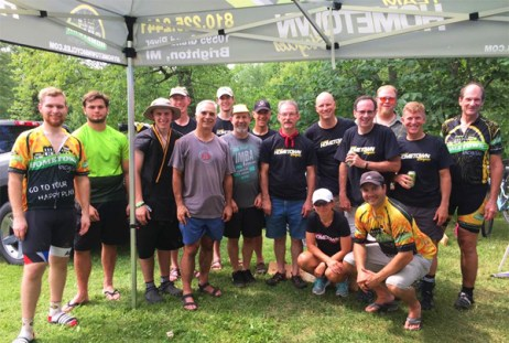 Team Hometown Bicycles at Novi Tree Farm Relay 2017