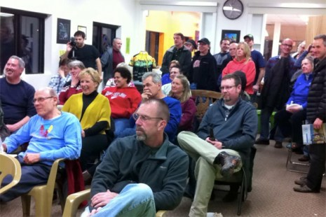 """2016 """"Where to Ride in MI and With Whom"""" clinic at Hometown Bicycles - What a turnout!!!"""