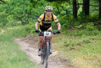 Team Hometown Bicycles rider Linc Wehrly at Hanson Hills Mountain Bike Race