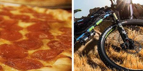 Pizza and Jamis Bicycles - A Clinic-Party at Hometown Bicycles