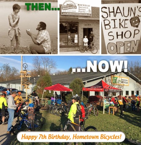 Hometown Bicycles then and now... Happy 7th Birthday!