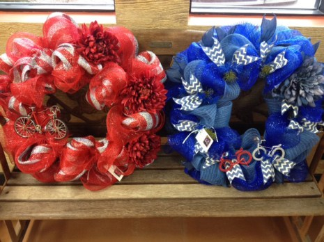 Bicycle wreaths by Cindy Selke