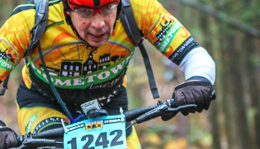 Team Hometown Bicycles' rider at mountain bike race