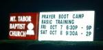 Mt Tabor PBC Signage Illuminated