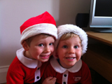 Finley and Louie Ilsley are excited!