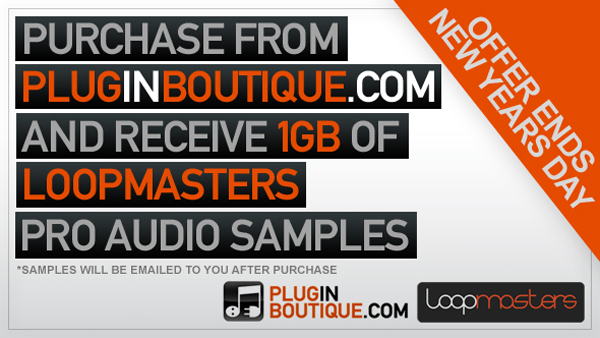 Purchase From Plugin Boutique & Get 1GB Loopmasters Samples