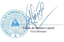 Tomás do Rosário Cabral, Vice Minister