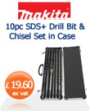 Makita 10 piece SDS Drill Bit and Chisel Set £19.60 ex vat