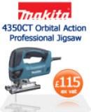 Makita 4350CT Orbital Action Professional Jigsaw  £115 ex vat